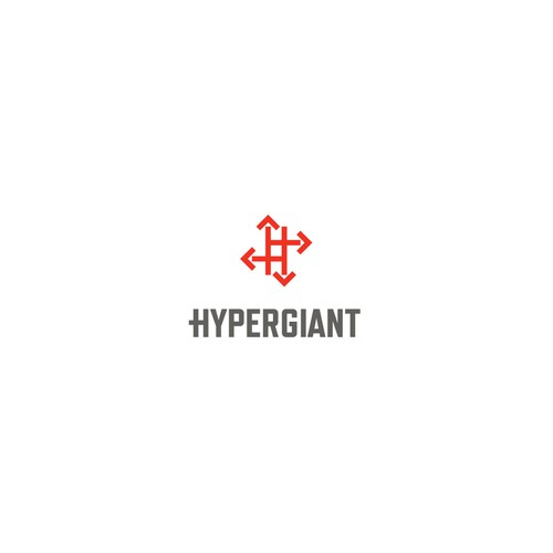 Trucking logo with the title 'Concept for Hypergiant, a freight/logistics broker'