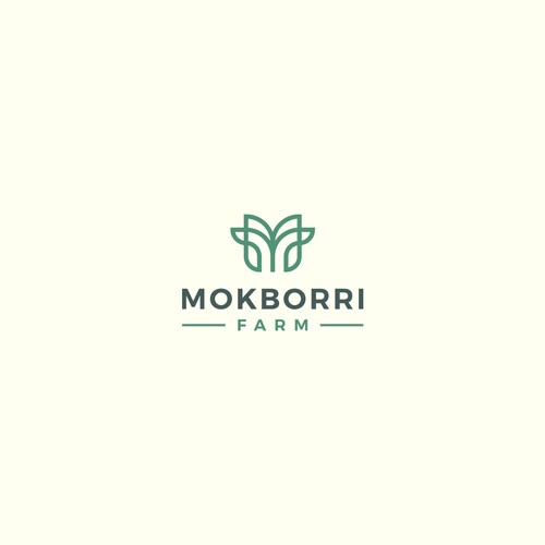 Simple design with the title 'Logo design for Mokborri Farm'