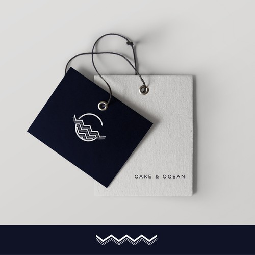 Wave logo with the title 'Cake & Ocean'