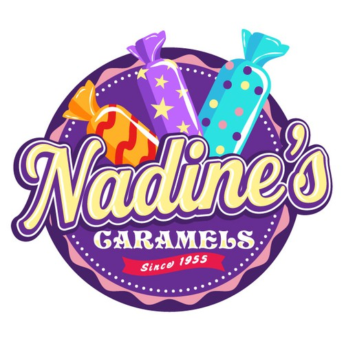 Sweet logo with the title 'Nadine's Caramels'