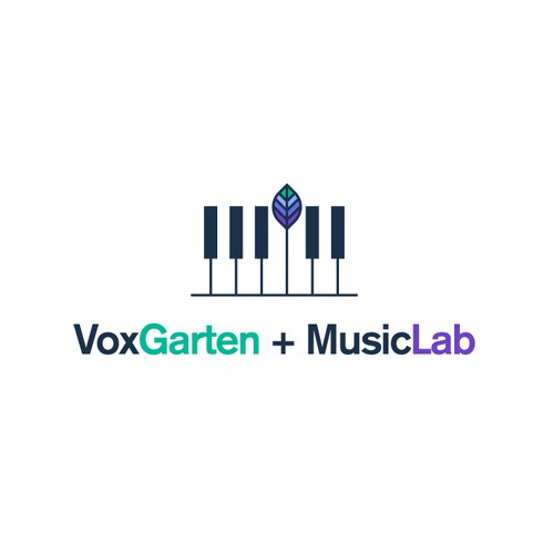 Creative logo with the title 'VoxGarten + MusicLab'