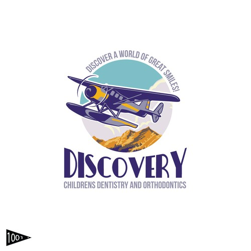 Flying club logo with the title 'Discovery'