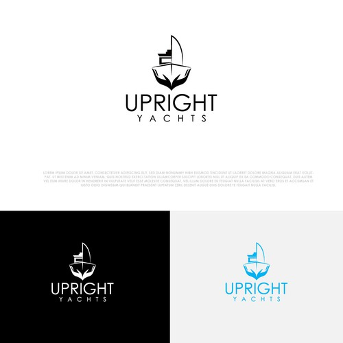 Yacht club design with the title 'Upright Yachts Logo'