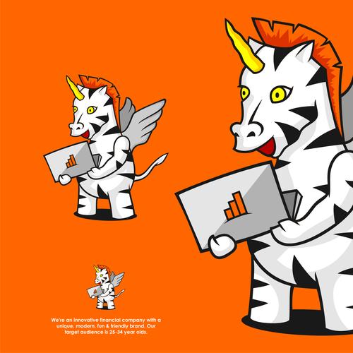 "Zebra design with the title 'Uni ""Zebra"" corn'"
