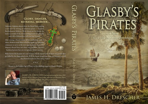 Suspense book cover with the title 'Book cover for the sequel of Glasbys Fortune – Book 2 in the Glasby Chronicles'