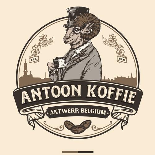 Beige design with the title 'Antoon koffie'