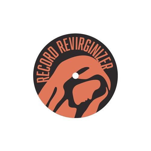 Vinyl record design with the title 'Record Revirginizer'