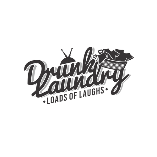 Loading logo with the title 'Drunk Laundry'