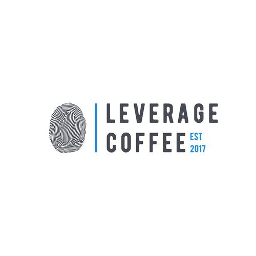 Fingerprint logo with the title 'Logo for coffee company'