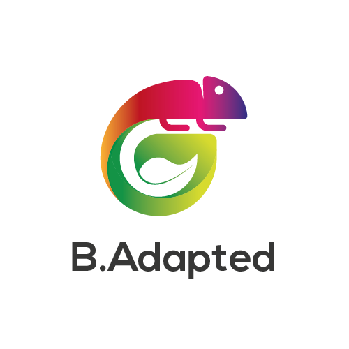 Chameleon brand with the title 'clever logo proposal for B.Adapted'