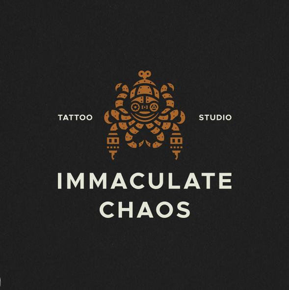 Squid logo with the title 'Immaculate Chaos Tattoo Logo'