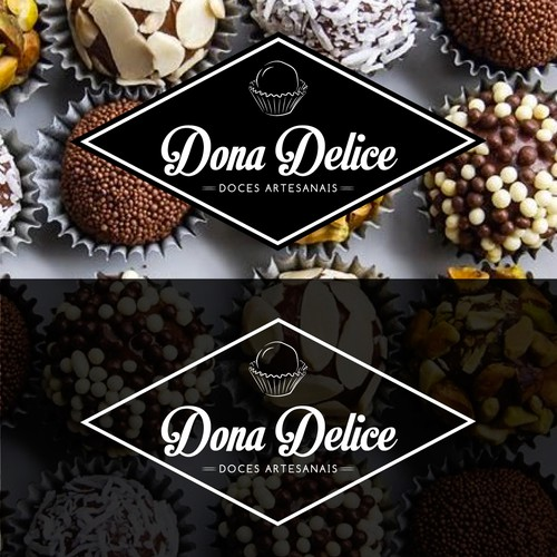 Sweet design with the title 'Logo for a typical brazilian chocolate and candy company'