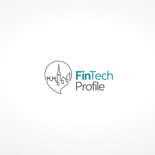 Blogging logo with the title 'Create a logo for our new fintech publication'