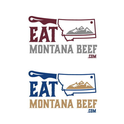 Meat logo with the title 'Logo concept of Montana beef company'