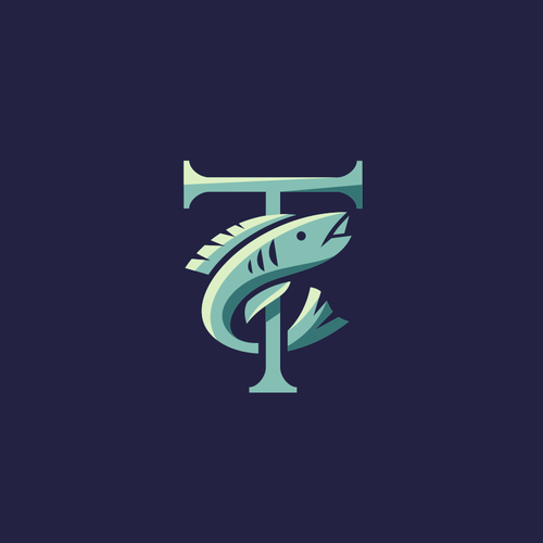 Fish restaurant logo with the title 'trenasse'