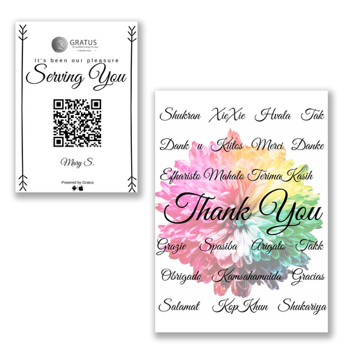 Thanksgiving design with the title 'Thank You Card'