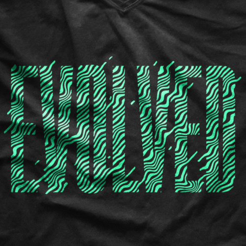 Abstract t-shirt with the title 'Abstract Design'