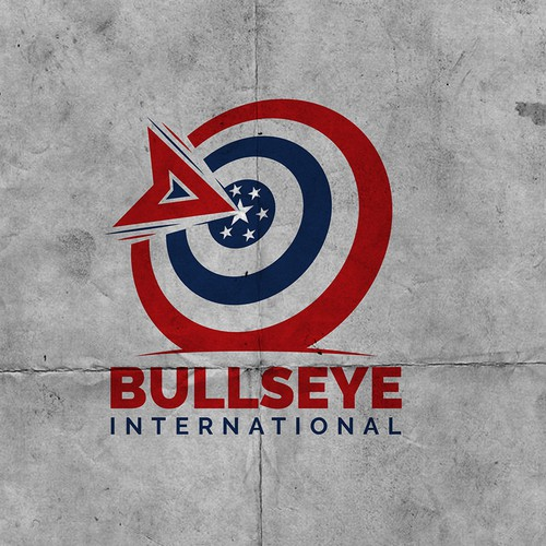 Target design with the title 'Bullseye Logo'