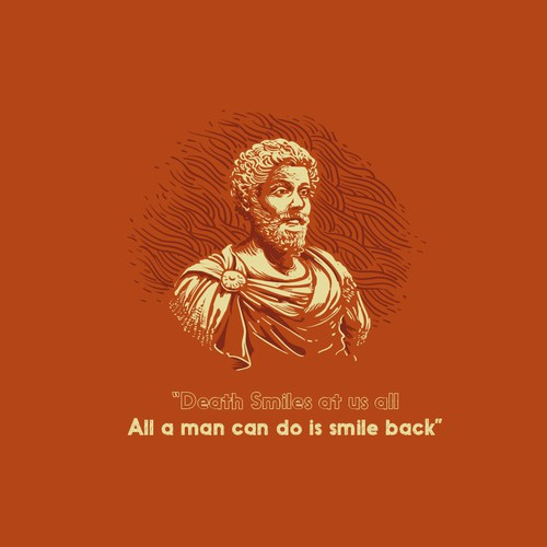 Quote design with the title 't-shirt design-themed stoic'