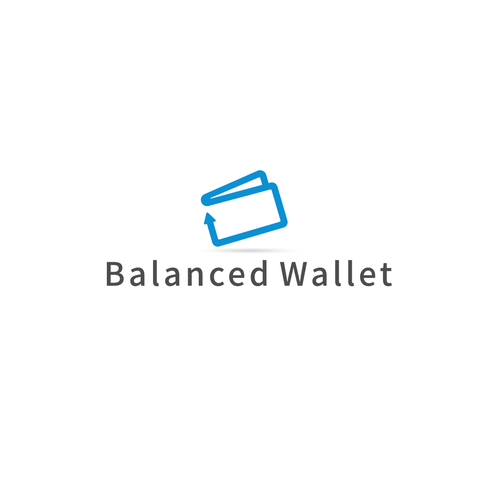 Wallet logo with the title 'playful and modern wallet design'