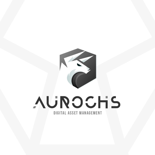 Bull design with the title 'Cool Logo for Digital Management CO'