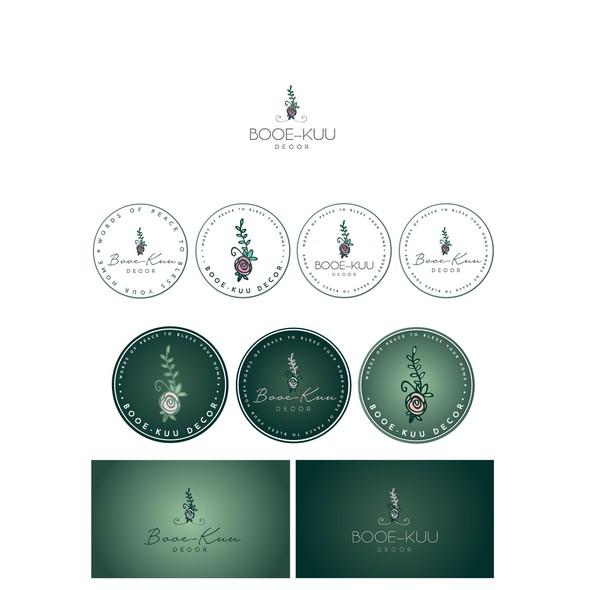 Home decor logo with the title 'Booe-kuu decor'