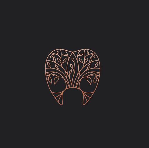 Floral design with the title 'Khoradent logo design'