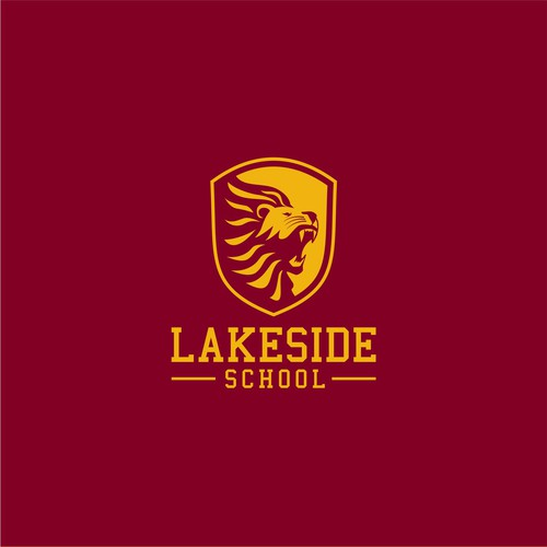 Two-color design with the title 'a 2 hour logo challenge for a school's athletic brand.'