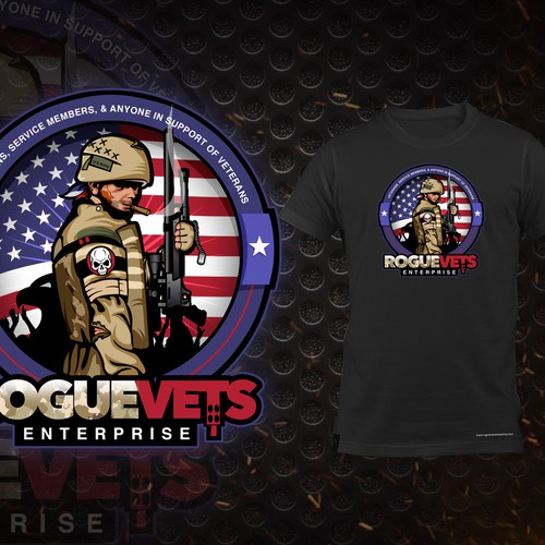 Veteran logo with the title 'Logo for Rogue Vets Enterprise'