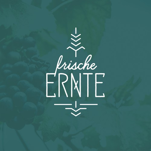 """Harvest logo with the title 'Logo for the German DJ collective """"frische Ernte"""" – """"fresh harvest""""'"""