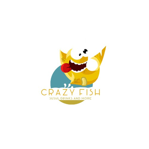 Crazy logo with the title 'Crazy fish'