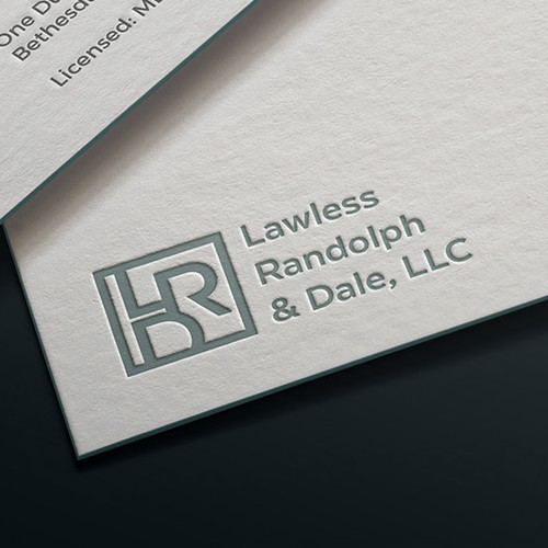Monogram brand with the title 'Logo for a law firm'