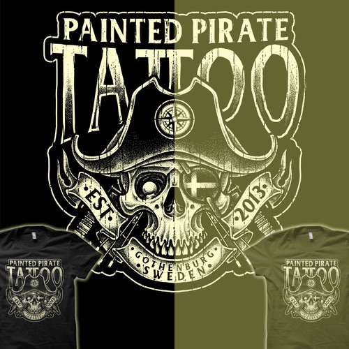 Pirate t-shirt with the title 'Pirate Tattoo'