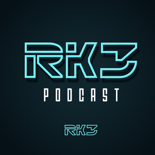 House music design with the title 'RK3 PODCAST'