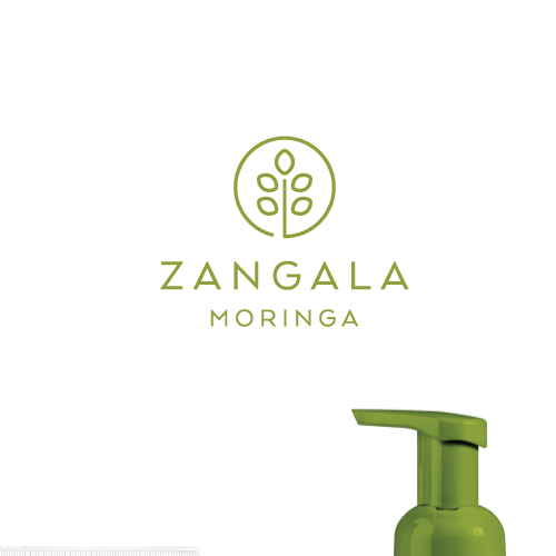 Health and beauty logo with the title 'logo design for zangala moringa'