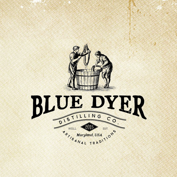 Distillery design with the title 'Distillery logo'