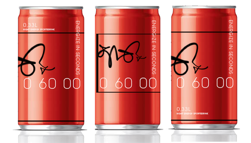 """Soda can design with the title 'Product label for """"60 seconds"""" ENERGY DRINK. Guaranteed to award the prize!'"""