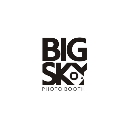 Sky logo with the title 'Design new hipster/retro meets modern logo 4 a photo booth co!'