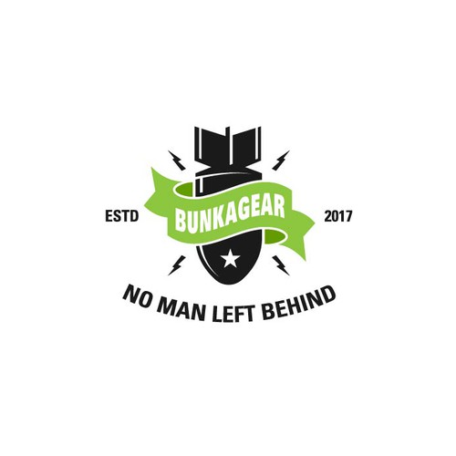 Bomb logo with the title 'BUNKAGEAR Logo'