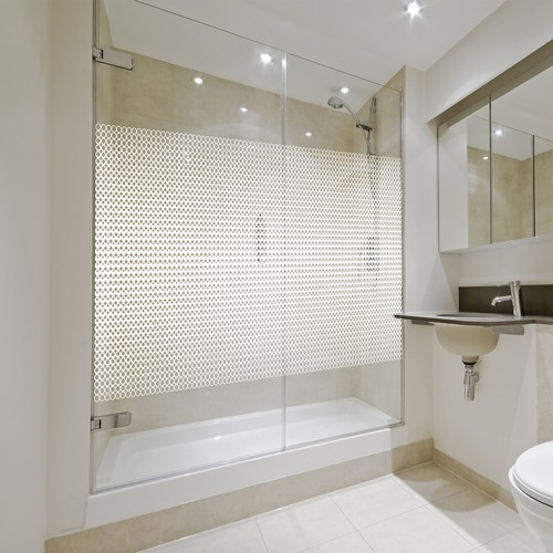 Shower design with the title 'Pattern for glass shower'