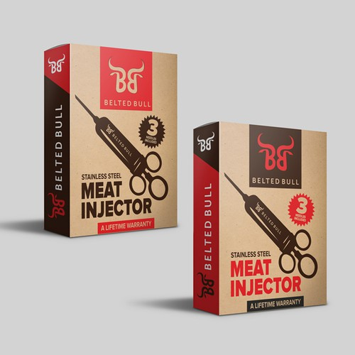Meat packaging with the title 'Bold product box'