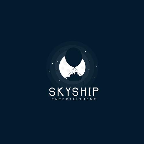 Dark logo with the title 'SkyShip logo '