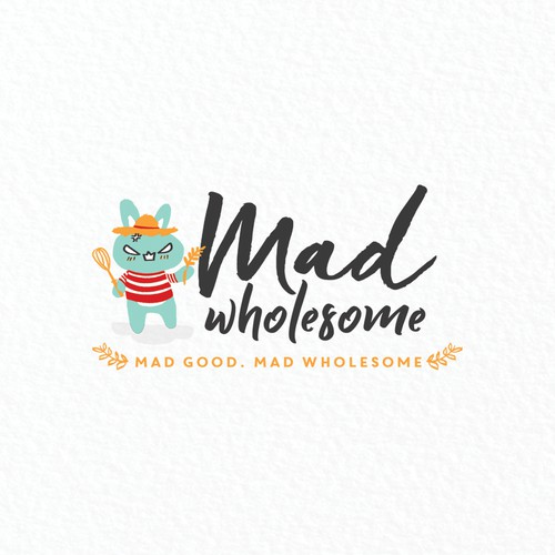 Stripe design with the title 'Wholesome food logo'