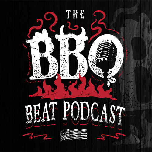 Retro t-shirt with the title 'THE BBQ BEAT PODCAST'
