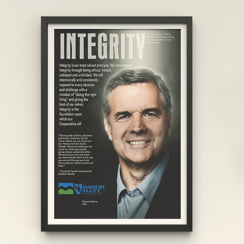 Integrity design with the title 'Poster for Credit Union'