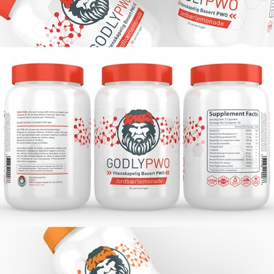 Supplements Label Design