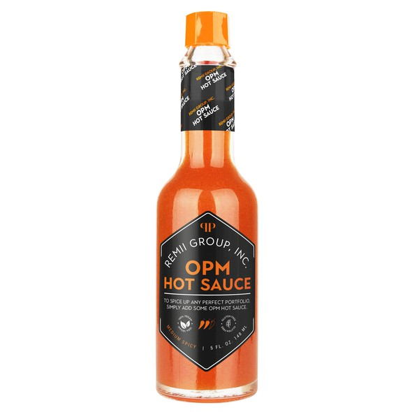 Hot sauce design with the title 'Hot Sauce Label'