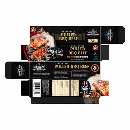 Barbeque packaging with the title 'Killer new package design for pulled BBQ beef'