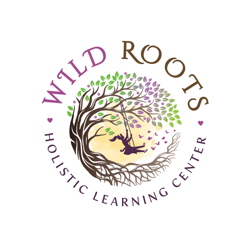 Girl logo with the title 'Wild Roots Logo'