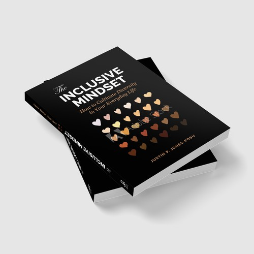 Positivity design with the title 'Inclusive Mindset Book cover design'